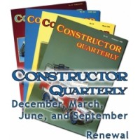 CONSTRUCTOR QUARTERLY 2017-2018 YEAR'S SUBSCRIPTION