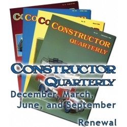 CONSTRUCTOR QUARTERLY 2018-2019 YEAR'S SUBSCRIPTION